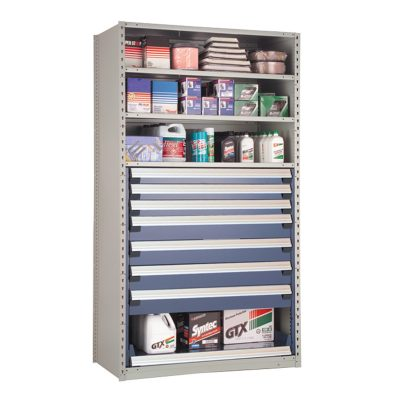 Shelving With Drawers