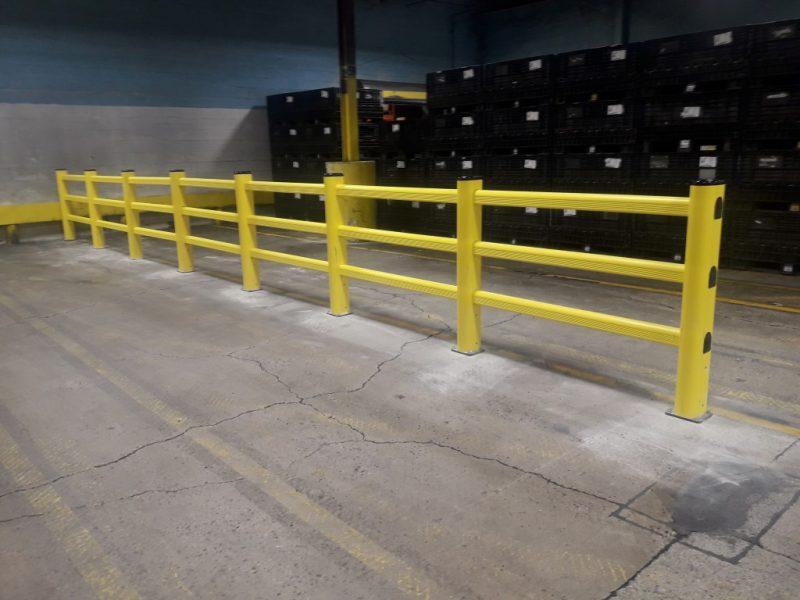 PVC Guardrail Installation