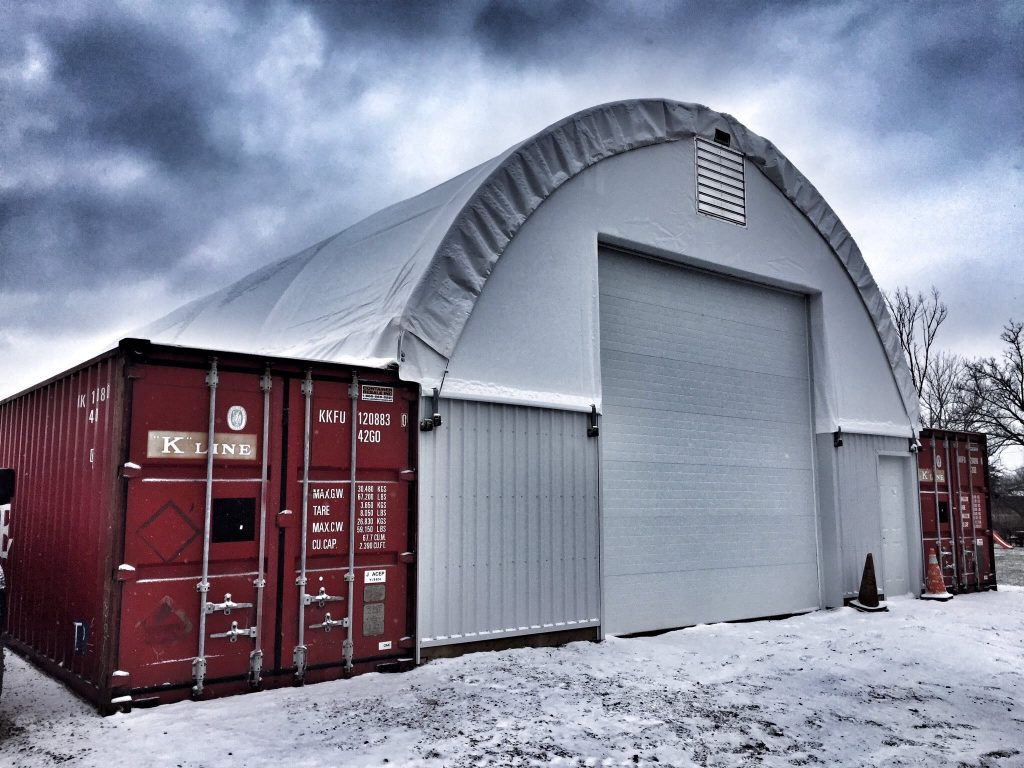 Steel Dome Garages : Fabric dome buildings products king materials handling